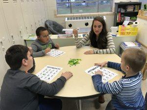 Mrs. Bachman teaches subtraction skills using bingo.